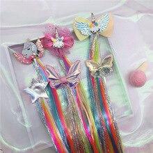 Headband Princess Hairpins Wigs Hair-Accessories Barrettes Unicorn Girls Kids Fashion