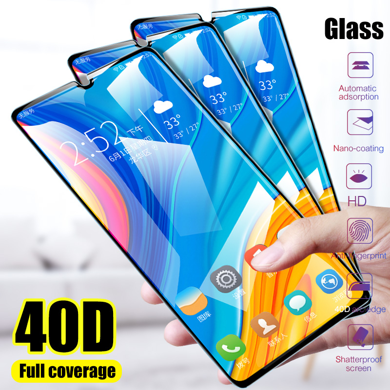 2Pcs 40D Tempered Glass For Huawei P20 Lite P30 P10 Lite Pro Screen Protector For Huawei Mate 20 30 Lite P Smart 2019 Glass Film