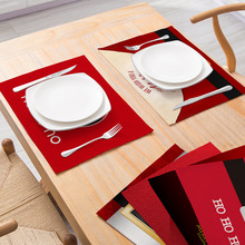 New Style Christmas Cotton And Linen Cloth Placemats Table Mats Rectangular Western Placemats Tableware Mats Coasters artificial leather placemats non slip placemats bowls coasters waterproof table mats heat insulated table mats