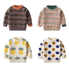 Sweater Boys Pullover Girls Winter Children's New Plush Autumn And Striped