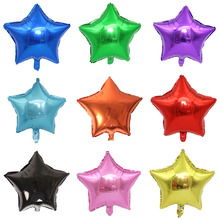5pcs/lot 18 inch Multi-color Balloon Star Wedding Large Aluminum Foil Balloons Inflatable Gift Birthday Party Decoration Ball