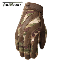 TACVASEN Multicam Tactical Gloves Men Full Finger Antiskid A