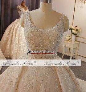 Image 5 - מדהים מלא ואגלי חתונת שמלת יוקרה 2020 מותג העבודה האמיתית אמנדה novias