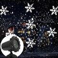 Светодиодный светильник для снегопада  Лампа для проектора в виде снежинок  водонепроницаемый уличный дисплей  проектор  шоу  вращающиеся в...