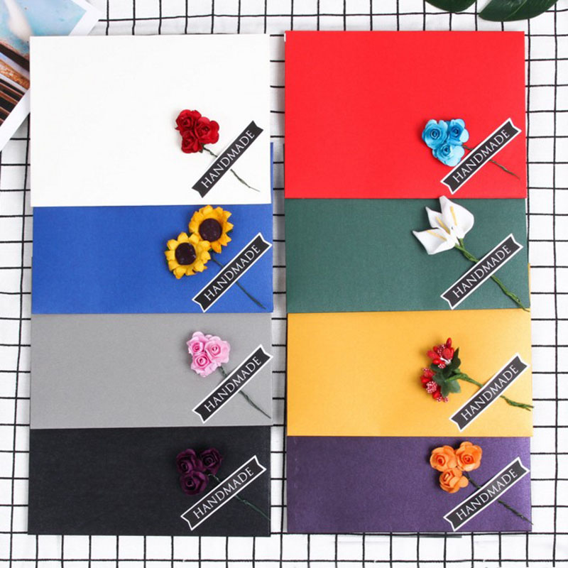 1 Pcs Flower Iridescent Shimmer Pearl Paper Wedding Invitation Card Envelope Pearlescent Glitter Envelope For 6inch Photo