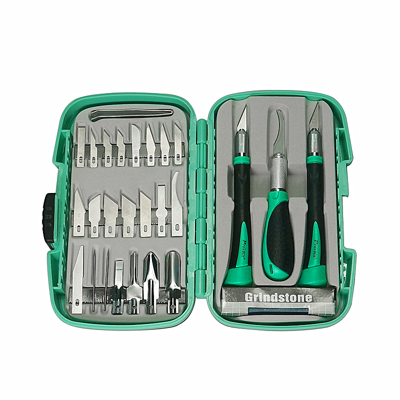 <font><b>Proskit</b></font> PD-395A Multifunctional knife woodworking <font><b>tools</b></font> Set for carving <font><b>tools</b></font> Pro'skit Prokits chisel kit (30 groups) image