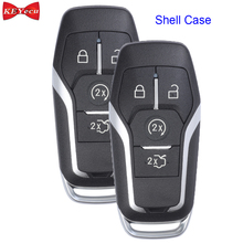 KEYECU 2pcs for Ford F150 Edge Mustang Fusion Explorer for Lincoln MKC MKX MKZ Remote Key Shell Case Fob for M3N A2C31243300