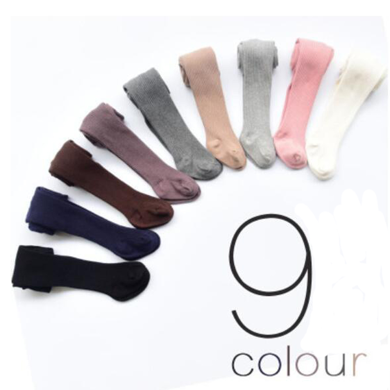 Spring Autumn Girl Tights Children Baby Stockings Cotton Baby Girls Pantyhose Kids Infant Knitted Collant Tights 0-8 Yrs