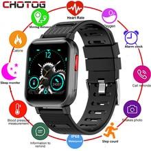 CHOTOG – montre connectée pour hommes et femmes, écran tactile Super fin, moniteur dactivité physique, de pression artérielle et de fréquence cardiaque, étanche IP68