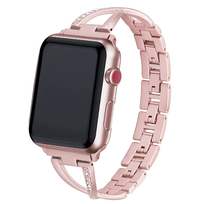 Stainless Steel Metal Bracelet Jewelry For Apple Watch Series 5 4 3 2 1 38MM 42MM Strap For Iwatch 5 40MM 44MM Accessories