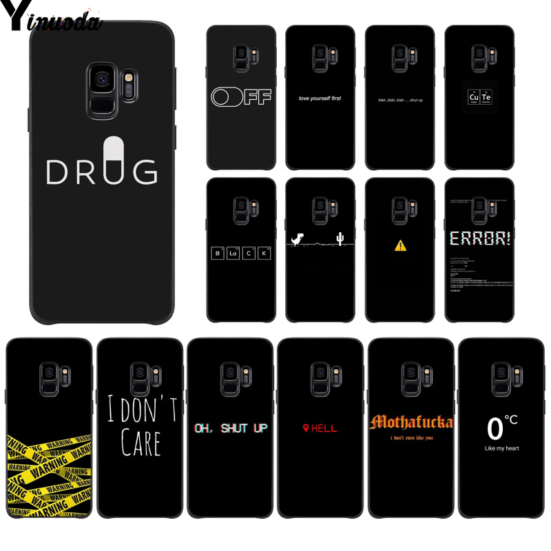 Yinuoda Black Minimalist Text Colorful Cute <font><b>Phone</b></font> <font><b>Case</b></font> for <font><b>Samsung</b></font> S9 S9 plus S5 S6 S6edge S6plus <font><b>S7</b></font> S7edge S8 S8plus image