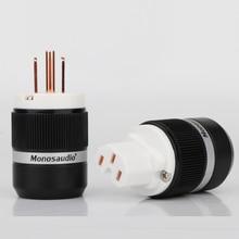 Connector Monosaudio F130 Cable-Plug Hifi Us-Power Female Hi-End Copper IEC Red M130