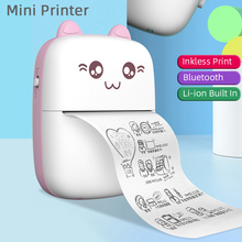Sticker Printer Photo-Tag Pocket Wireless-Label-Printer Office Bluetooth Mini Portable