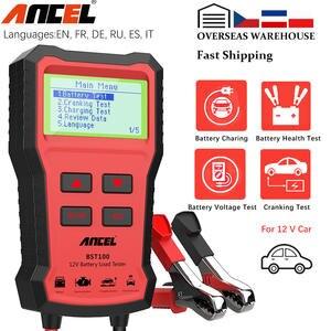 Analyzer Load-Tester-Tools Car-Battery-Charger-Tester Voltage Ancel Bst100 12V 2000CCA