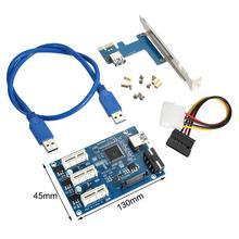 Zestaw kart PCI-E PCI-E Express 1X do 3X mnożnik HUB karta Riser z kablem konwertera PCI-E do komputera płyty głównej tanie tanio selectec CN (pochodzenie) Kable PCI NONE Dostępny w magazynie PCI-E Adapter Card