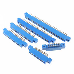 10pcs Connector 805 Flange Card Edge Slot 3.96 mm Pitch 8 12 16 20 24 30 36 44 56 72 Pin Socket PCB Gold Finger Wire Solder