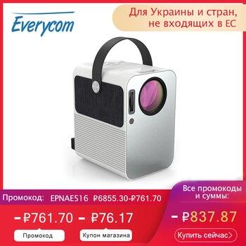 Everycom r10 led vídeo mini projetor hd 720p portátil beamer suporte completo hd 1080p uso do cinema de cinema em casa como alto-falante bluetooth,Este é um código de desconto 99 menos 15:DISC15