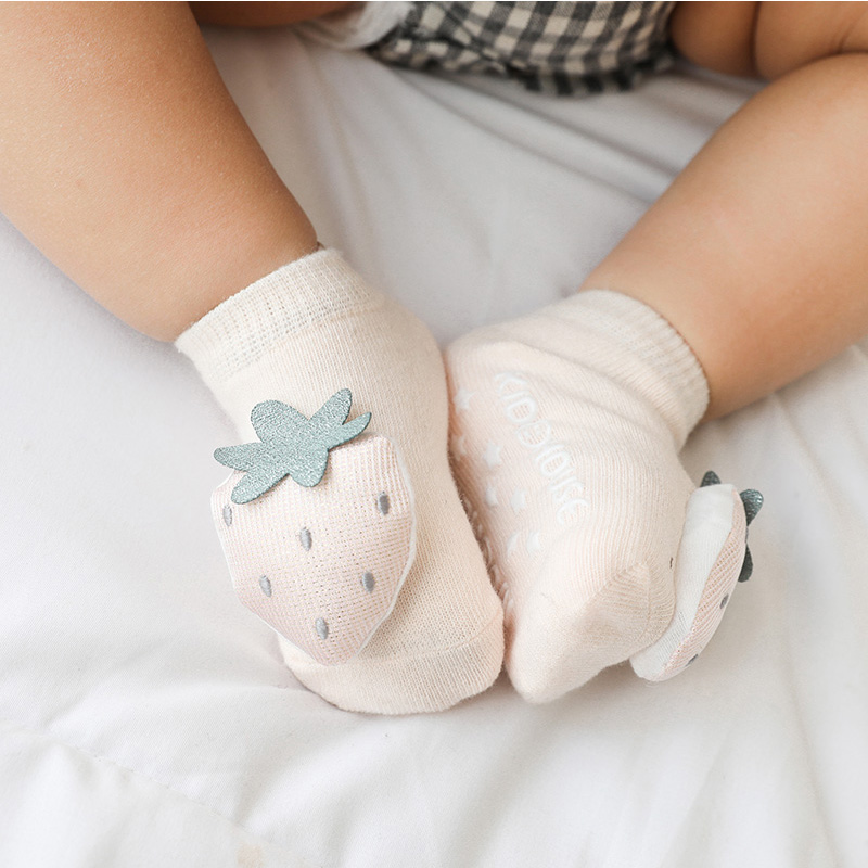 Newborn Infant Non-slip Socks Toddler Girls Boys Cotton Fox Dinosaur Socks Kids Childish Thin Cute Short Anti Slip Ankle Sock
