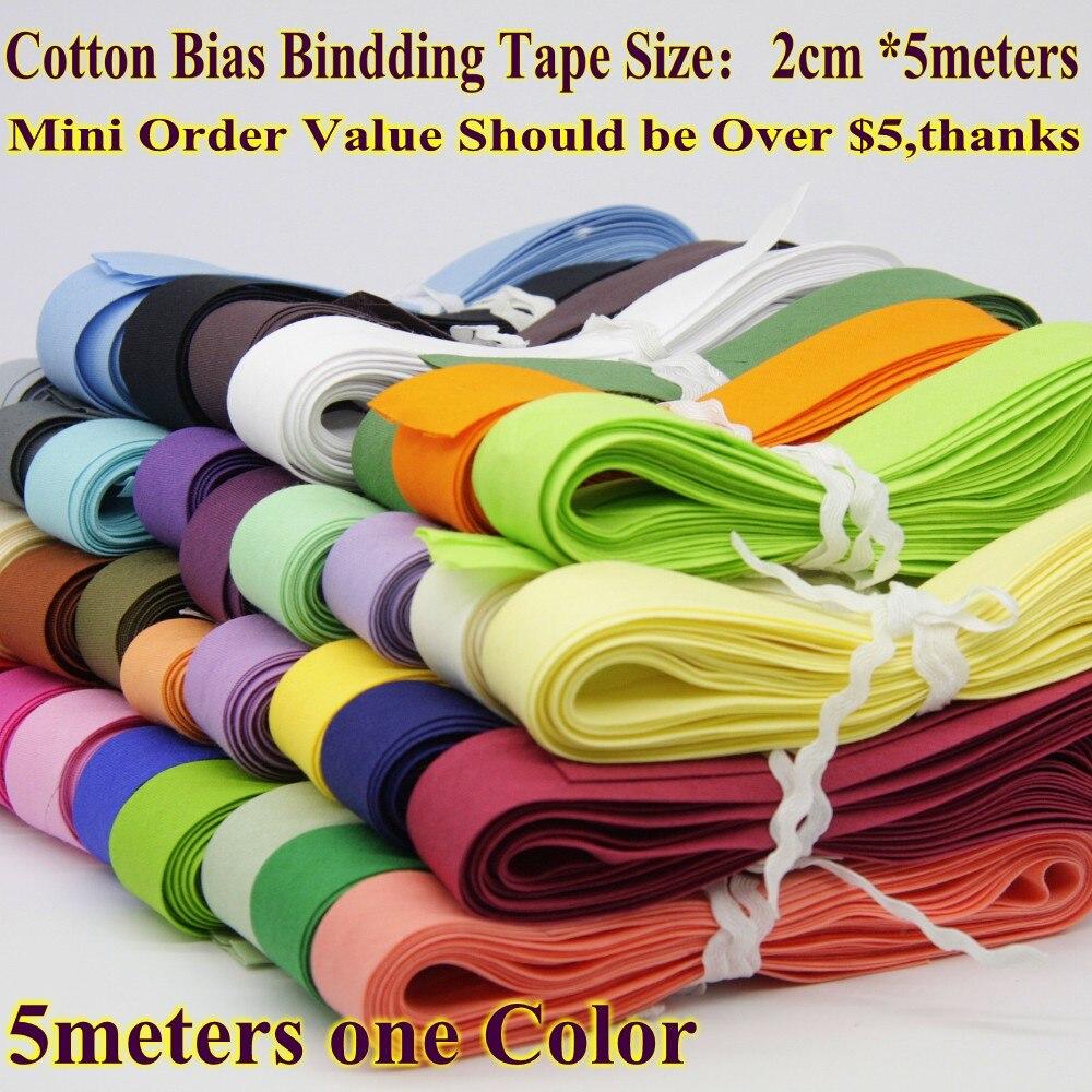 Лента хлопковая смещенная, лента смещенная обвязочная размер: 20 мм, ширина: 3/4 дюйма 5 м/лот, небольшая упаковка, материал для шитья ручной раб...