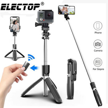 Electop Wireless bluetooth Selfie Stick Tripod Foldable Tripod Monopods Universal for SmartPhones for Gopro Sports Action Camera