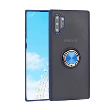 New ring magnet transparent frosted protective cover back cover mobile phone case for Samsung Note10 Samsung Note10 Pro fundas simple protective frosted abs back case for samsung g3815 white