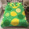 Комплект постельного белья с лимоном  свежие фрукты  пододеяльник  односпальная двуспальная кровать  набор одеял  покрывало для мальчиков и...