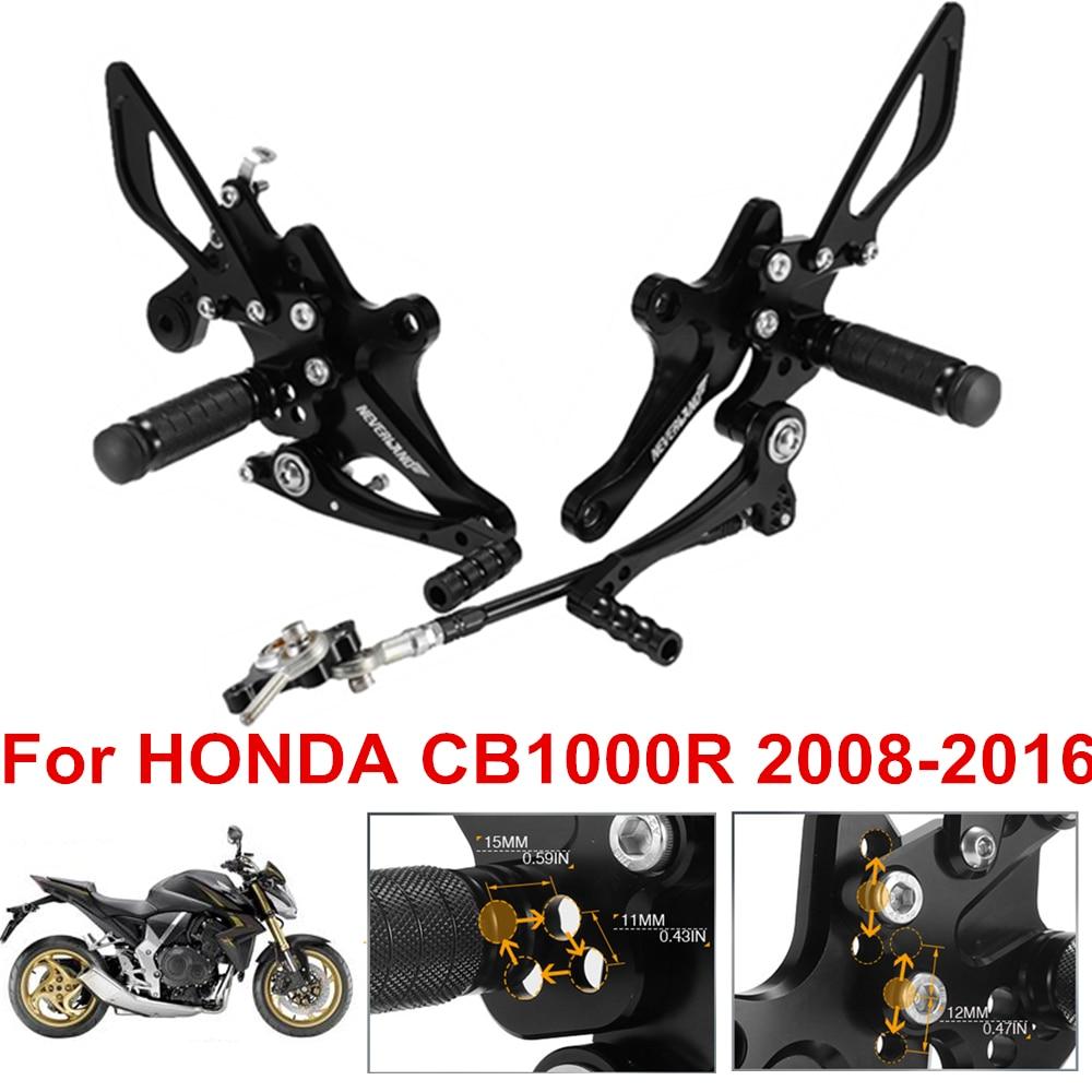 2008-2016 Honda CBR1000RR Area 22 CNC Adjustable Rear Sets Footpeg Gold Rearsets