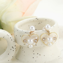Love Transparent Pearl Small Earrings Korea Wild Simple Temperament Earings Fashion Jewelry Women