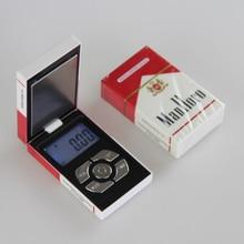 100/200/300/500g 0.01g Mini Electronic Pocket Jewelry Scales Digital Gram Cigarette Case Weight Diamond Gold Weight Balance