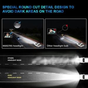Image 5 - MAXGTRS H1 H4 Hi/Lo wiązka H7 H8 H11 9005 HB3 9004 H27 880 881 żarówki LED do reflektorów samochodowych 80W CSP LED reflektor samochodowy przeciwmgielne przednie światła