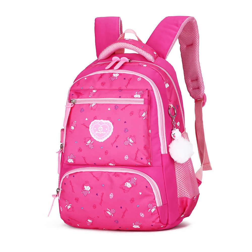 Oxford mochila 3-6 anos nível dos desenhos animados mochila linda princesa crianças estilo preppy mochilas para adolescentes