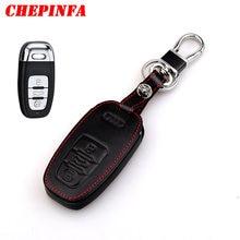 Chepinfa кожаный чехол для автомобильного ключа audi a1 a2 a3