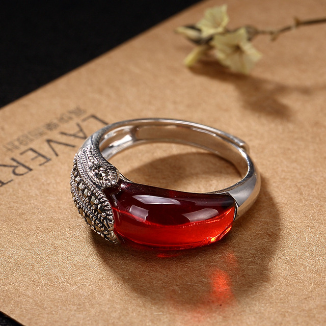 Natural S925 sterling silver rings with natural agate ruby rings 925 ring women men gold ring add certificate jade jewelry