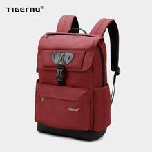 Tigernu Mode Frauen Rot USB Aufladen Schule Tasche Rucksack für Jugendliche Mädchen Anti theft Weiblich Männlich Mochila 15,6 Laptop Taschen