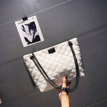 White Leather Bags Women Luxury Handbags Designer Fashion Shoulder Crossbody Lingge women bag