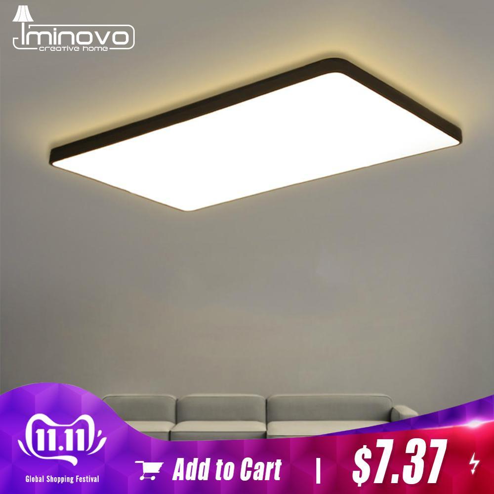 Led luz de teto lâmpada moderna luminária cozinha quarto foyer simples montagem em superfície do painel nivelado sala estar controle remoto