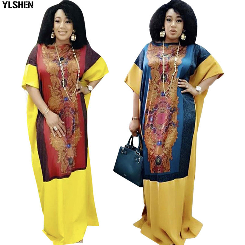 2020 Traditional Dashiki African Dresses For Women Plus Size Boubou Robe Africaine Femme Print Long Africa Dress African Clothes