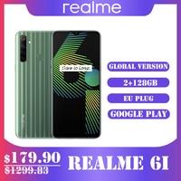 Realme 6i Global Version Mobile Phone 4/ 128GB EU Plug MTK Helio G80 5000 mAh Dewdrop Display 6,5 Smartphone