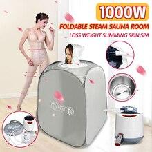 2Л 220 В 1000 Вт Складная Паровая палатка сауна комната кожа спа-бокс парогенератор ванная комната аксессуар для сауны потеря веса похудение