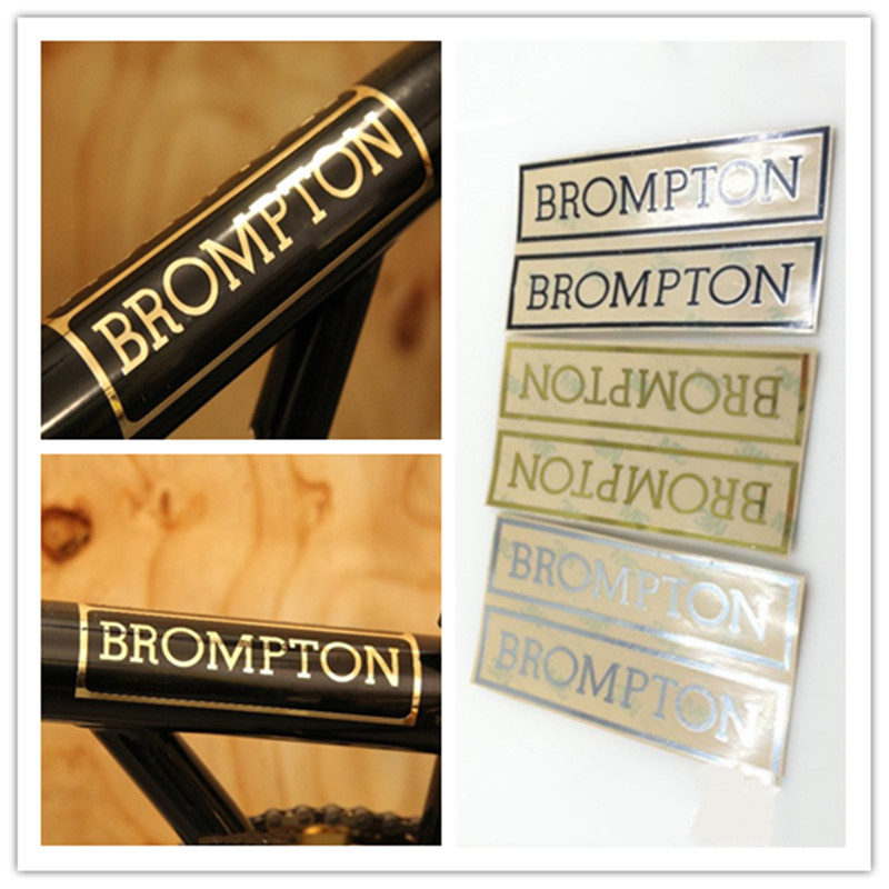 Frame Badge Emblem Brand Logo Sticker Alloy Metal Tags 3M for Brompton Bicycle