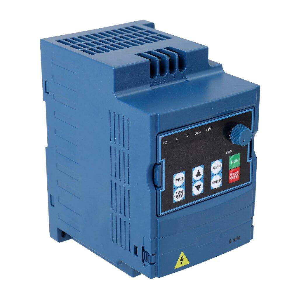 Variateur de fréquence 3 phases broche onduleur AC lecteur 0.75kw 1.5KW 2.2KW 380 V/F contrôle vectoriel pour contrôleur de vitesse moteur VFD