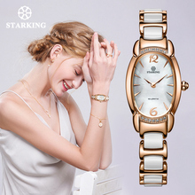 STARKING Fashion Rose Gold Women Watch import Quart Movement