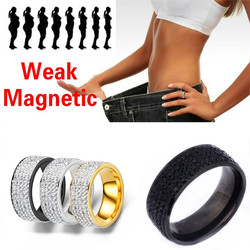 Stainless Steel Ring for Men Women Couple Weak Magnetic Rings Power Therapy Magnets Lover's Gift Weight Lose Health Care Jewelry