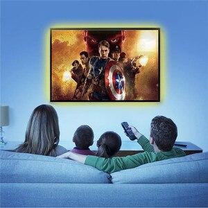 Image 5 - DC 5V USB TV lumière écran dordinateur lumière de biais arrière SMD 5050 RGB LED TV rétro éclairage avec télécommande 44key IR