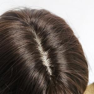 Image 5 - ALAN EATON Medium Wavy Black Brown Women Bobo Wigs with Bangs Synthetic Fiber High Temperature Fiber Female Heat Resistant