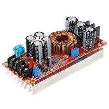 Perakende 1200W yüksek güç DC DC dönüştürücü yükseltme Step up güç kaynağı modülü 20A 8 60V 12 80V ayarlanabilir