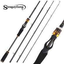Sougayilang 1.8m 2.1m 2.4m Casting Fishing Rods with 24 Ton Carbon Fiber Latest Serpentine Reel Seat Ultra Light Pesca Pole