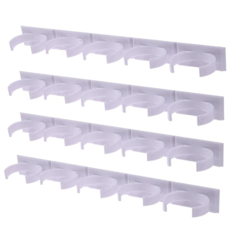 2/4 Pcs Wall Mount Ingredient Spice Bottle Rack Plastic Organizer Rack 5 Cabinet Kitchen Cabinet Door Hooks Jars Spice Holder