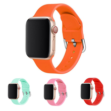 Silicone Strap for Apple Watch 5 Band 42mm 38mm 44mm 40mm Iwatch Bands Bracelet For Apple Watch Strap Series 5/4/3/2/1 camouflage soft silicone band for apple watch series 3 2 replaceable bracelet strap with adapter for iwatch 42mm 38mm bands