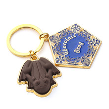 Wizardry Chocolate Frog Pentagon Keychain Hogwarts Brown Frog Keychain Fashion Jewelry Gifts For Men Women(China)